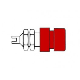 INSULATED SOCKET. RED. 4mm - BIL20