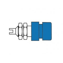 INSULATED SOCKET. BLUE. 4mm - BIL20