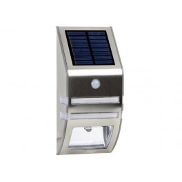 INOX SOLAR OUTDOOR WALL LIGHT + PIR 0.3W