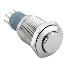 HIGH ROUND METAL SWITCH SPDT 1NO 1NC
