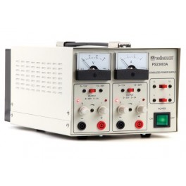 FIXED LAB POWER SUPPLY 2 x 0-30V / 2 x 0-3A DUAL ANALOGUE DISPLAY