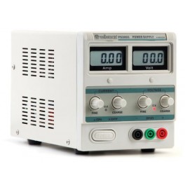 FIXED LAB POWER SUPPLY 0-30V / 0-3A DUAL LCD DISPLAY