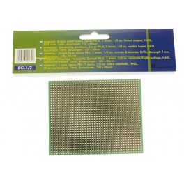 EUROCARD FULL LINE PATTERN - 100x80mm - FR4 (1pc/bl.)