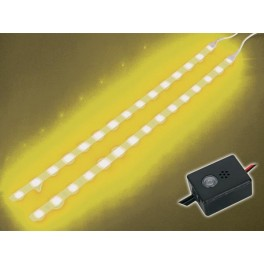 DOUBLE SELF-ADHESIVE LED STRIP. 12VDC. YELLOW + CONTROL UNIT
