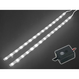 DOUBLE SELF-ADHESIVE LED STRIP. 12VDC. WHITE + CONTROL UNIT