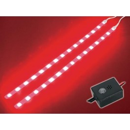 DOUBLE SELF-ADHESIVE LED STRIP. 12VDC. RED + CONTROL UNIT