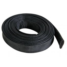 CABLE SLEEVE - FLEXIBLE - 20 MM x 5M - BLACK