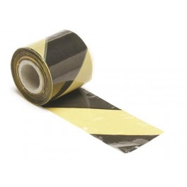 BLACK/YELLOW SAFETY TAPE - 100m