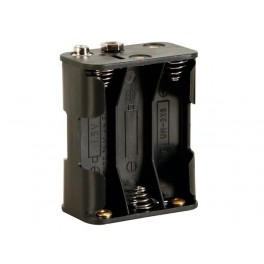 BATTERY HOLDER FOR 6 x AA-CELL (WITH SNAP TERMINALS)