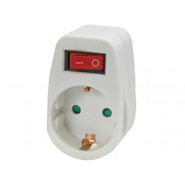 ADAPTER WITH ON/OFF SWITCH. 1 SOCKET