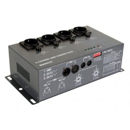 4-CHANNEL DMX DIMMER PACK (4 x 5A)