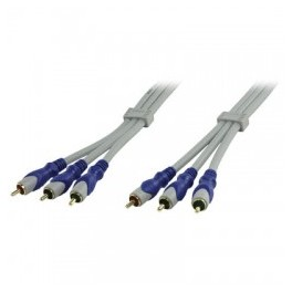 HQ STANDARD 3X RCA MALE COMPONENT VIDEO CABLE  2.5m