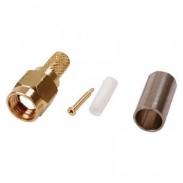 SMA MALE CRIMP PLUG GOLD PLATED FOR RG58