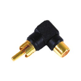 ADAPTER RCA MALE - FEMALE 90 DEGREES RED