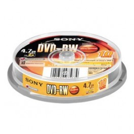 DVD-R 4.7GB 1-4x REWRITABLE 10pcs.