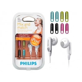 EARPHONES PHILIPS WITH COLOUR CAPS