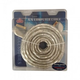 SCART CABLE TO SCART GOLD-PLATED 10m