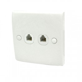 DOUBLE TELEPHONE WALL OUTLET