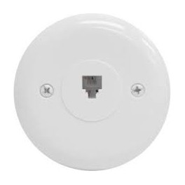 WALL PHONE OUTLET ROUND 4C