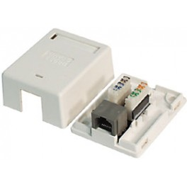WALL NETWORK OUTLET 8C ADHESIVE CAT5E