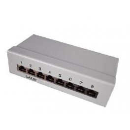 SMALL PATCH PANEL 8 PORTS CAT5E