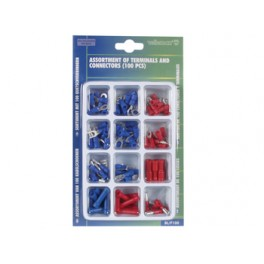 ASSORTMENT OF 100 TERMINALS AND CONNECTORS