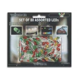 SET OF 80 ASSORTED LEDs