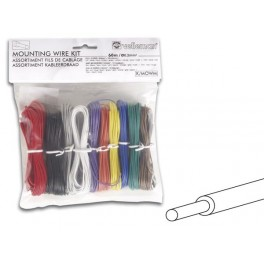MOUNTING WIRE KIT - 10 COLOURS - 60m - FULL CORE