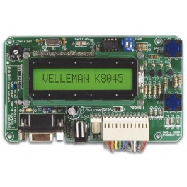 PROGRAMMABLE MESSAGE BOARD WITH LCD, SERIAL INTERFACE & 8 INPUTS