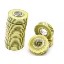 NITTO INSULATION TAPE GREEN/YELLOW 19mm x 20m (10pcs)