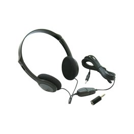 HEADPHONES FOR TV WITH LONG CABLE & VOLUME CONTROL
