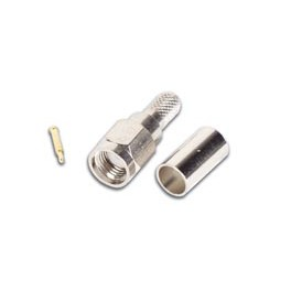 SMA MALE FOR RG58, CRIMP TYPE