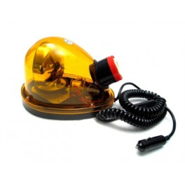 ROTATING BEACON WITH SIREN, CAR ADAPTER & MAGNETIC STAND -AMBER