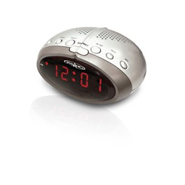 ALARM CLOCK WITH RED LED AND AM/FM RADIO