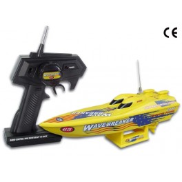 RADIO-CONTROLLED MINI SPEEDBOAT - YELLOW