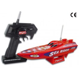 RADIO-CONTROLLED MINI SPEEDBOAT - RED