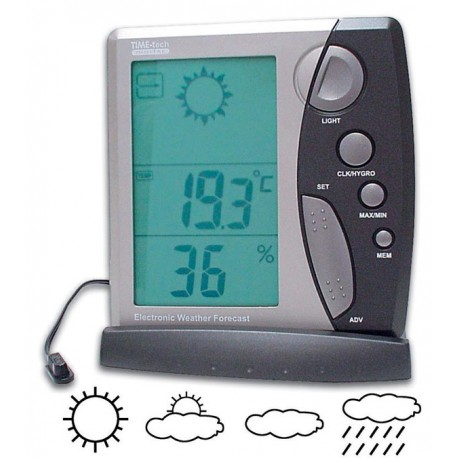 WEATHER STATION WITH CLOCK, IN/OUT TEMP. & HUMIDITY