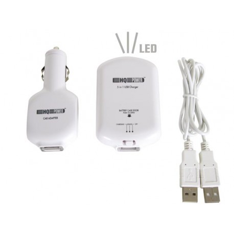 5-IN-1 USB NiMH AAA CHARGER AND POWER PACK