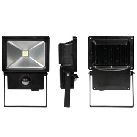 OUTDOOR LED FLOODLIGHT WITH PIR SENSOR - 10 W, NEUTRAL WHITE