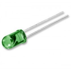 STANDARD LED LAMP 5mm GREEN DIFFUSED