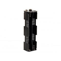BATTERY HOLDER FOR 8 x AA-CELL (WITH SNAP TERMINALS)