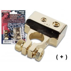 GOLD-PLATED CAR HI-FI BATTERY CLAMP POSITIVE POLE