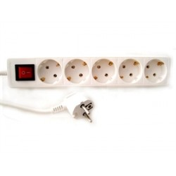 5-WAY SOCKET-OUTLET WITH SWITCH