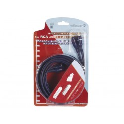 RCA AUDIO CABLE, 2 x RCA MALE TO 2 x RCA MALE  EARTHING CABLE, GOLD-PLATED, 10m
