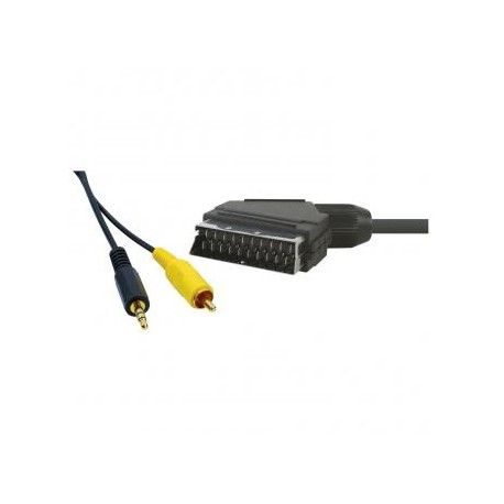 SCART  CABLE TO JACK 3,5mm STEREO & 1xRCA