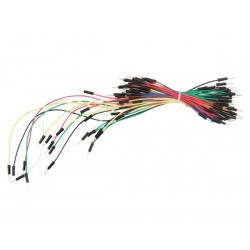 SET AWG JUMPER WIRES - ONE PIN - MALE TO MALE  (65 PCS)