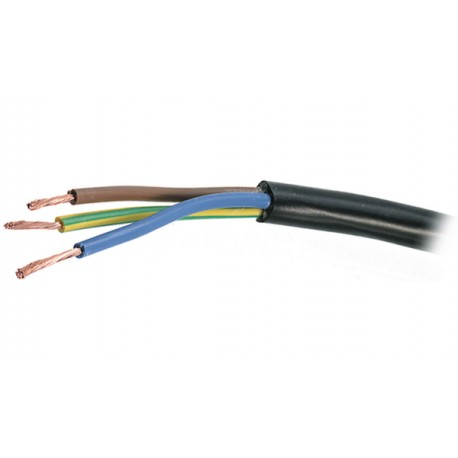 FLEXIBLE MULTICORE POWER CABLE NYL 3x1mm² BLACK