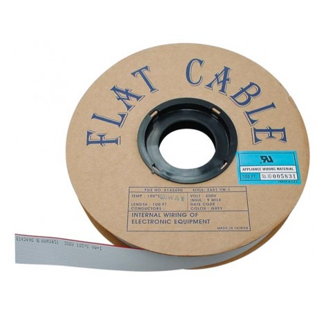 FLAT CABLE 50 CONDUCTORS GREY, 30m