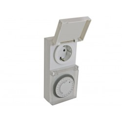24H TIMER - FOR OUTDOOR USE - GERMAN SOCKET