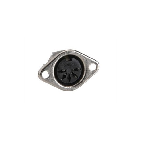 FEMALE 5P DIN PLUG, CHASSIS MOUNT